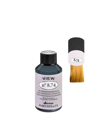 Davines Davines View Yarı Kalıcı Saç Boyası 8,74 Açık Kumral Bej Bakır 60 Ml Renksiz